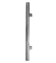 24 Inch Square Door Handles, Satin Stainless Steel