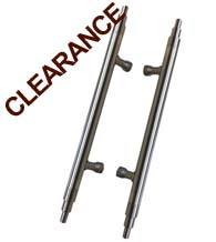 Satin Nickel Deco Design Door Pulls, Back to Back Pair