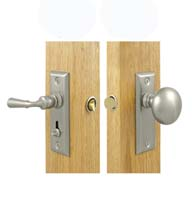 Storm Door Latch Set Solid Brass, Deltana SDLS480