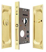 Classic Pocket Door Keyed Entry, Emtek 2103