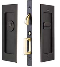 Modern Rectangular Keyed Entry Pocket Door, Emtek 2113