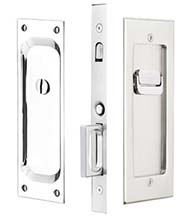 Modern Rectangular Privacy Pocket Door Set, Emtek 2115
