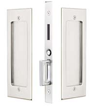 Modern Rectangular Dummy Pocket Door Set, Emtek 2116