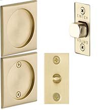 Passage Square Tubular Pocket Door Set, Emtek 2134
