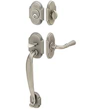 Two Piece Arched Nashville Handleset, Emtek 4312