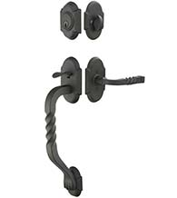 Two Piece San Carlos Wrought Steel Handleset, Emtek 461222