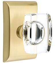 Windsor Crystal Knob with Neos Rose, Emtek 5051WS