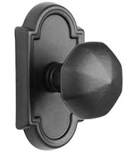Octagon Cast Bronze Knobset with Arched Rose, Emtek 70511OCK