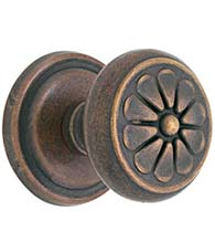 Petal Knob with Round Rose, Emtek 70512PT