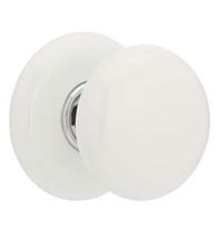 Ice White Porcelain Knobset, Emtek 8003IW