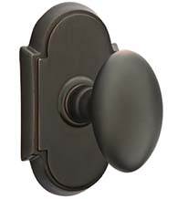 Traditional Egg Knob with Arched Rosette, Emtek 8058E