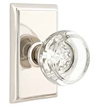 Georgetown Crystal Knob with Rectangular Rose, Emtek 8521GT