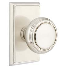 Norwich Knob with Rectangular Rose, Emtek 8521NW