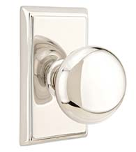 Providence Knob with Rectangular Rose, Emtek 8521P