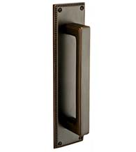Wilshire Door Pull with Knoxville Pull Plate, Emtek 86082-86078