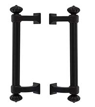 Column Lost Wax Bronze Back-to-Back Pulls, Pair, Emtek BTB-86156