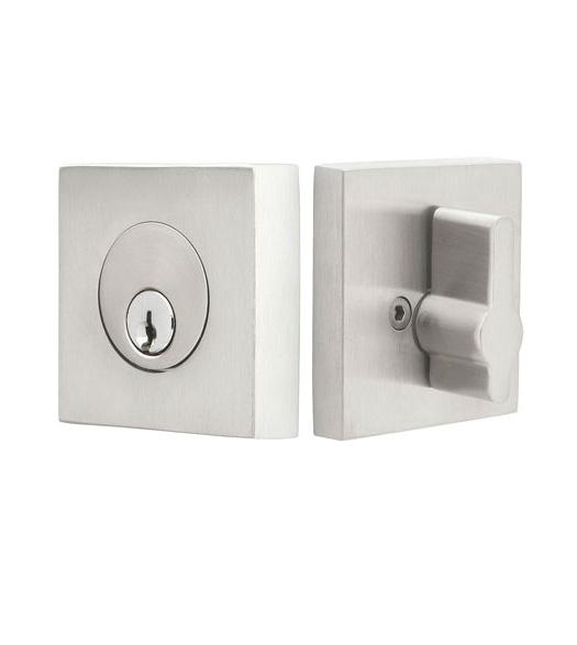 Modern Square Stainless Steel Single Cylinder Deadbolt Doorware Com