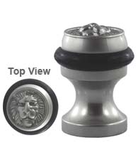 Lion Head Pedestal Door Stop, Field Enterprises DS-56