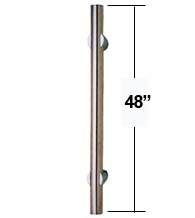 4 Foot Long Stainless Steel Door Pull,  First Impressions Model #10/48-US32D