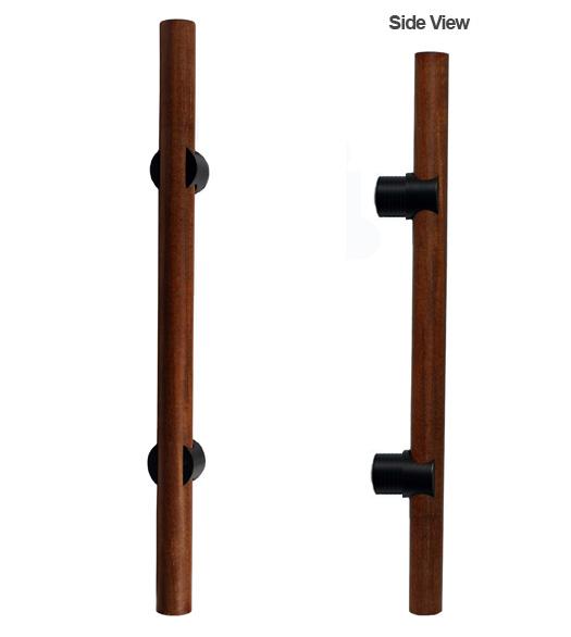 Ipe Wood Door Pull | Dark Wood Door Handle - Doorware.com