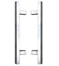 12 Inch Modern Square Stainless Steel Shower Pulls, Pair, First Impressions SD-3226/12-US32x