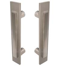 Contemporary Two Tone 12 Inch Shower Door Pulls, Pair, First Impressions FII-SD-3400/12