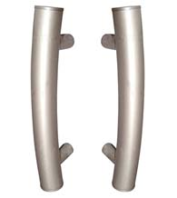 Contemporary Curved 9 Inch Shower Door Pulls, Pair, First Impressions FII-3450/9