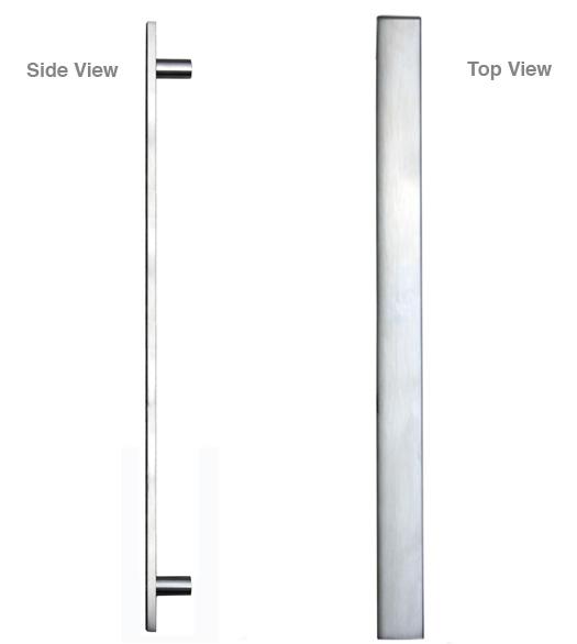 Sutter Rectangular Stainless Steel Door Pull Doorware Com