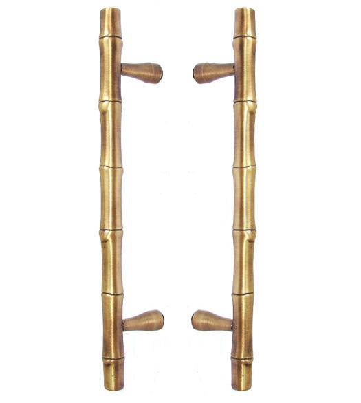 11 3 4 Inch Bamboo Shower Door Pull Set Doorware Com