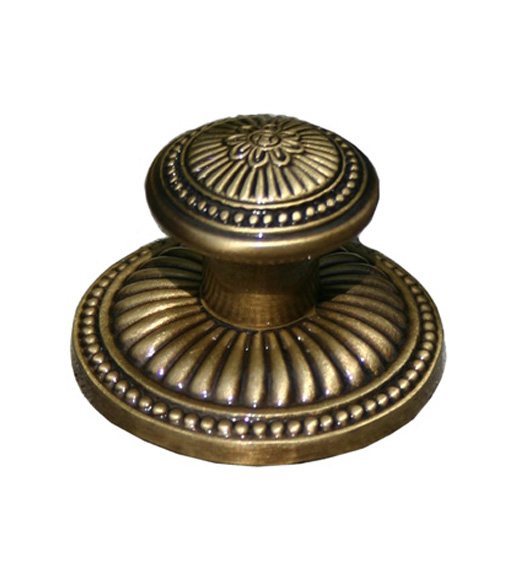 Decorative Reed Cabinet Knob with Rose