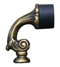 Ornate Decorative Floor Door Stop, First Impressions 918-F