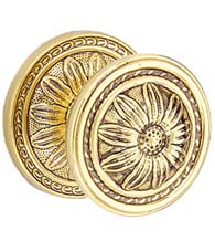 Large Decorative Flower Door Knob Pull, First Impressions BST01