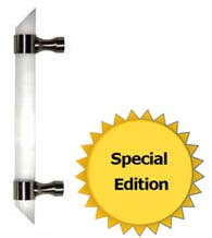 Frosted Acrylic Angled End Appliance Pull, First Impressions FII-CFRBAF-AE