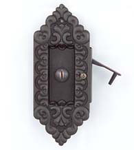 Victorian Sliding Pocket Door Privacy Lock, First Impressions DRB03