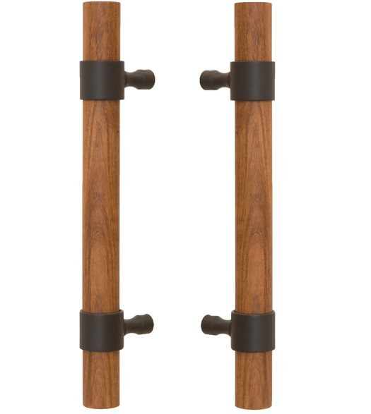 Pair of Wood Door Handles