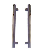 Modern Square Shower Door Pulls, Pair, First Impressions FII-SD-3225-300-US26
