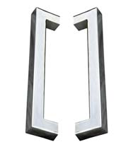 12 Inch Modern Square Stainless Steel Shower Pulls, Pair, First Impressions SD-3526/12-US32x