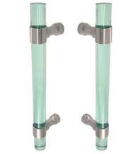 Glass Green Acrylic 14 Inch Shower Door Pulls, Pair, FII-SD-CFRBACG-14
