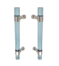 Ocean Blue Acrylic 9 Inch Shower Door Pulls, Pair, FII-SD-CFRBACOB-9