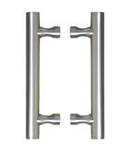 9 Inch Stainless Steel Shower Door Pulls, Pair, FII-SD-CFRBSS-9