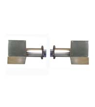 Modern Cube Shower Door Knobs, Pair, First Impressions SD-CUBE-100