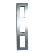 10 Inch Contemporary Ladder Shower Door Pulls, Pair, First Impressions SD-NTLP-10