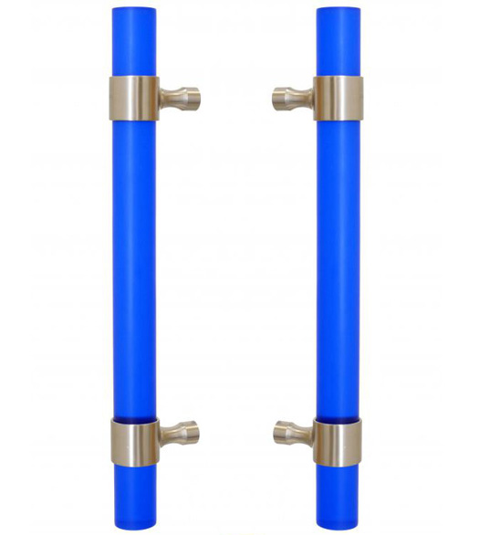 Pacific Blue Shower Door Pull Set
