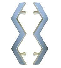 Lighting Bolt Shower Door Pulls, Pair, First Impressions SD-TTLB-8.5