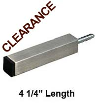 4-1/4 Contemporary Square Stainless Steel Wall Mount Door Stop, FII-SQDS425-US32D
