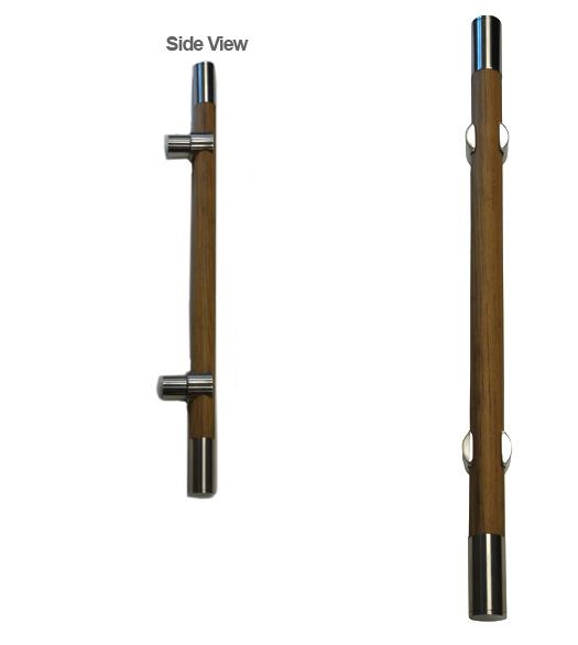 Contemporary Teak Door Handle - Doorware.com