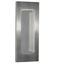Contemporary Satin Stainless Steel Flush Pull, FII-515C-US32D
