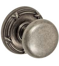 French Colonial Half Round Knob With Ribbon and Reed Rose, Fusion 01-B5