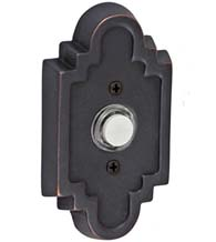 Navajo Stepped Scalloped Doorbell Button, Fusion B-EL-C2