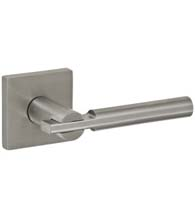 Stainless Steel 3040 Lever with Square Rose, Fusion SI-S7